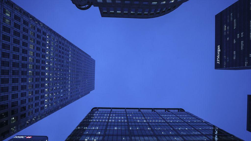 Particular vista del centro financiero de Londres