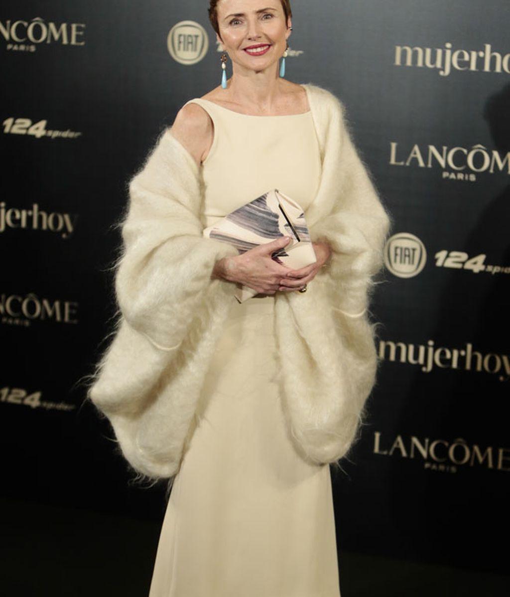 La diseñadora de joyas Helena Rohner, también recibió su premio