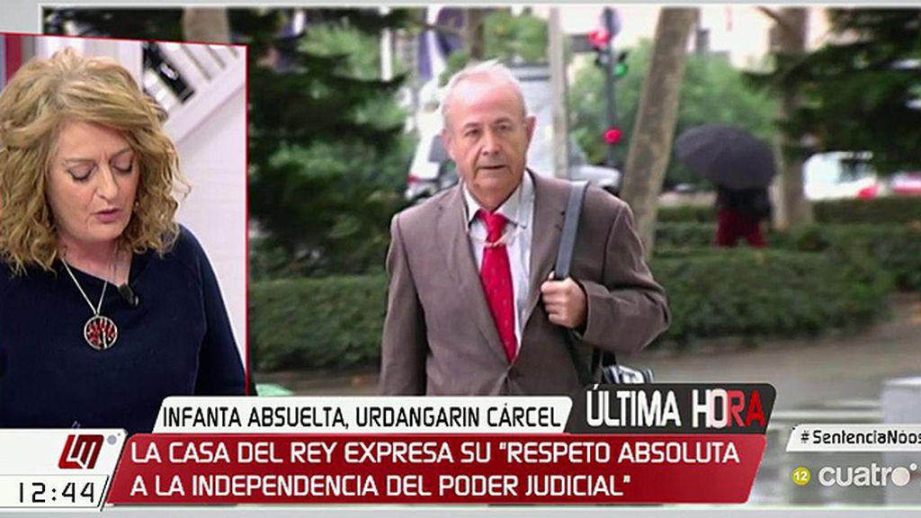 """Alicia Gutiérrez: """"El juez Castro no entiende que Torres tenga una condena superior a Iñaki Urdangarin"""""""