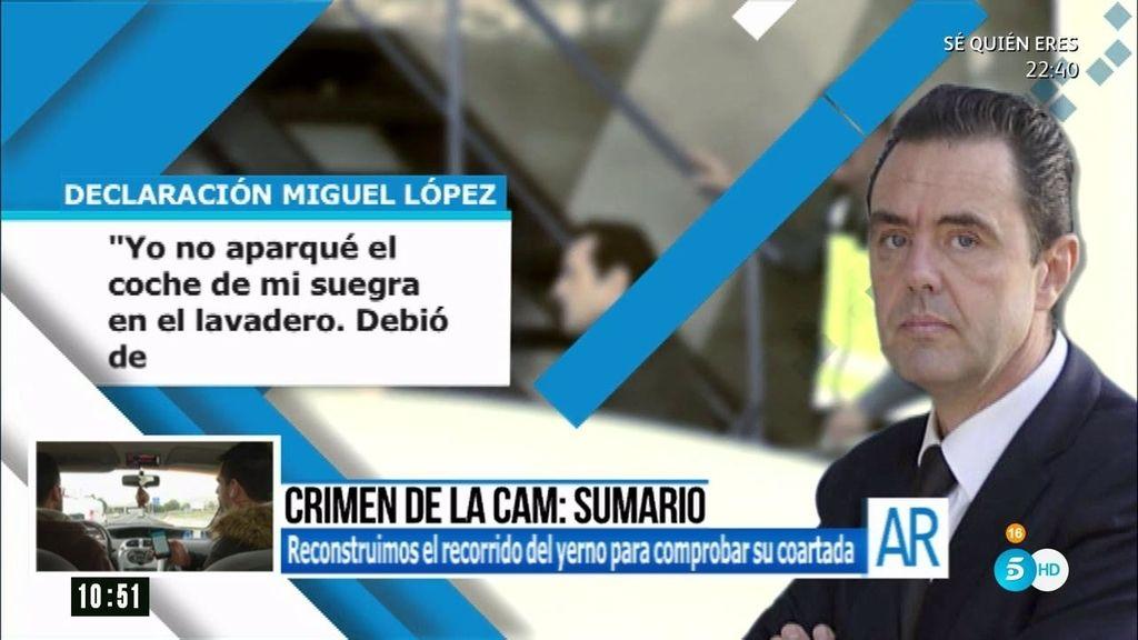 """La declaración de Miguel López: """"Soy inocente, su muerte no me beneficia en nada"""""""