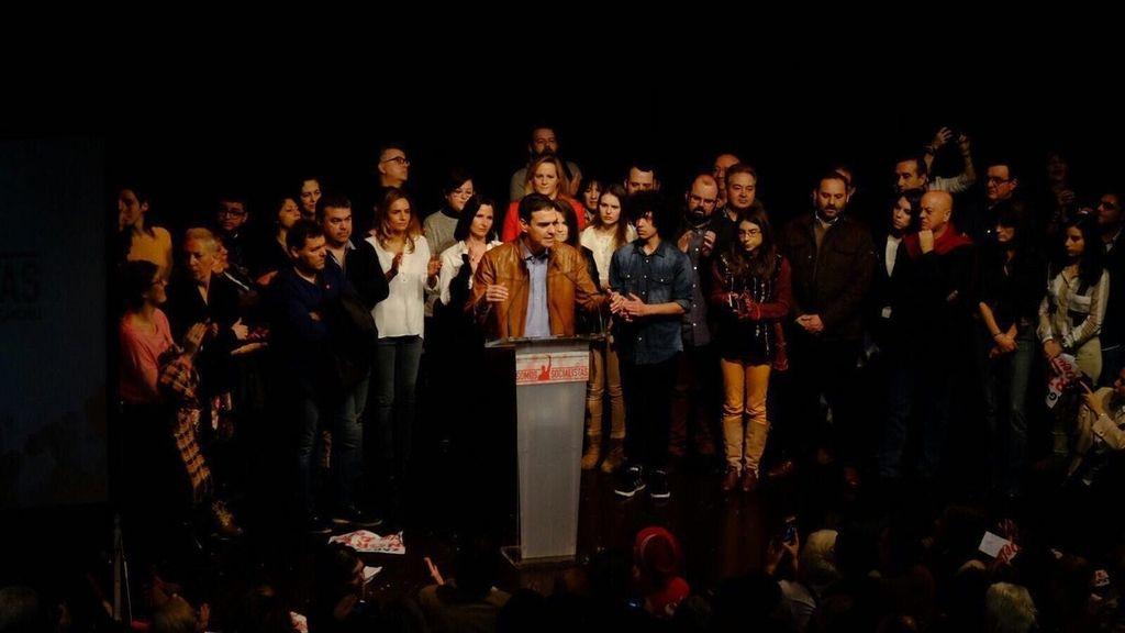 Acto de Predro Sánchez en Zaragoza