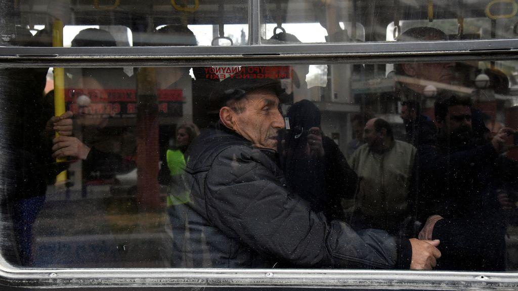 Gente evacuada en Tesalónica