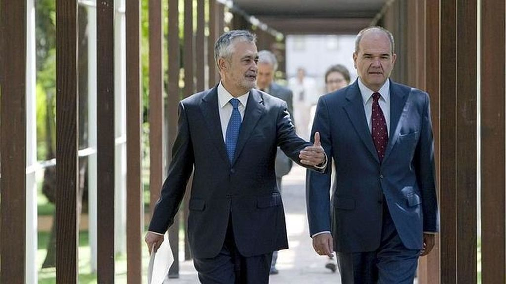 Manuel Chaves y Antonio Griñan en una imagen de archivo