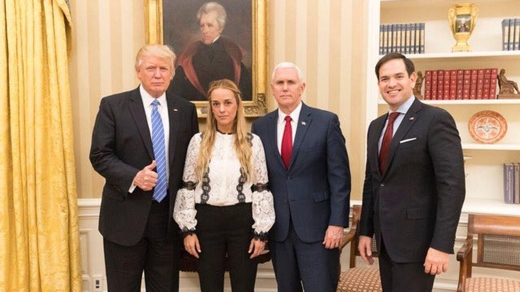 Trump recibe a Tintori en la Casa Blanca