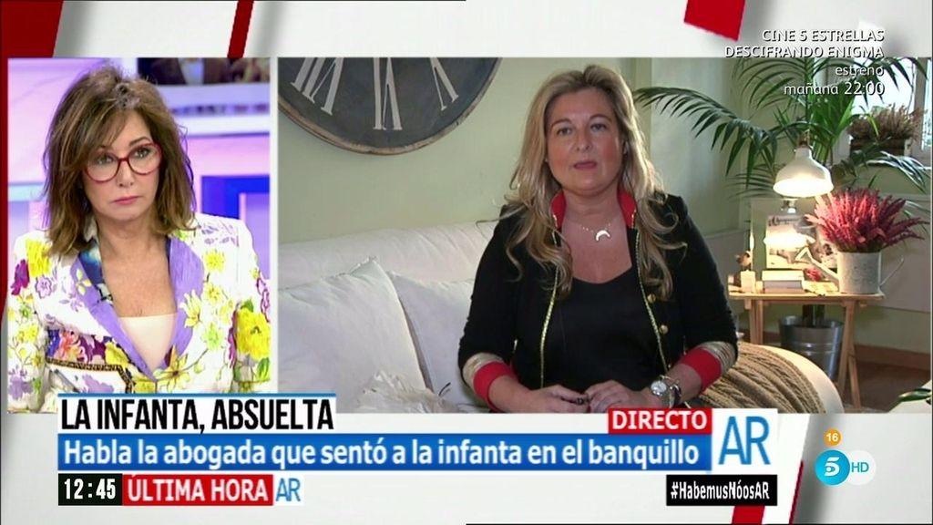 """Virginia López: """"La infanta Cristina no ha sido absuelta en su totalidad"""""""