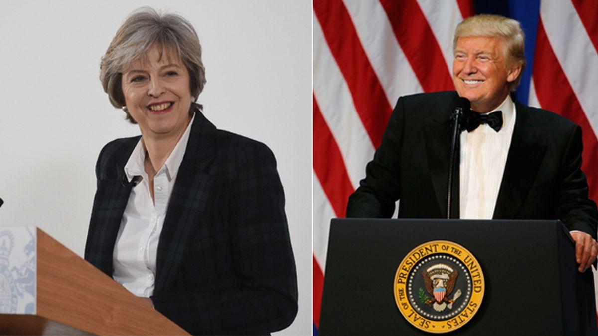 Theresa May en Washington