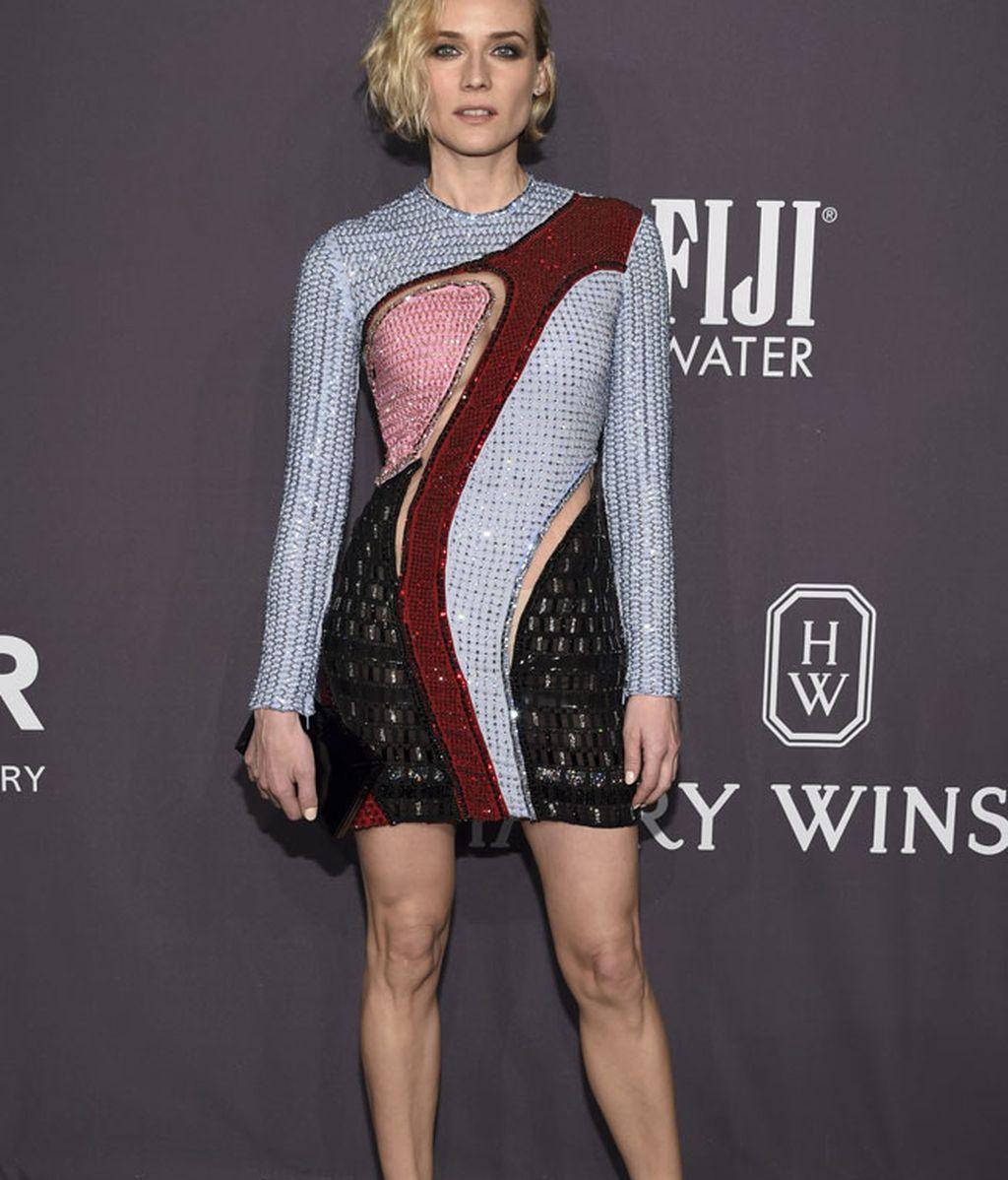 Diana Kruger lució un diseño de Versace