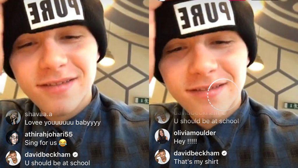 David Beckham 'trollea' a su hijo Brooklyn