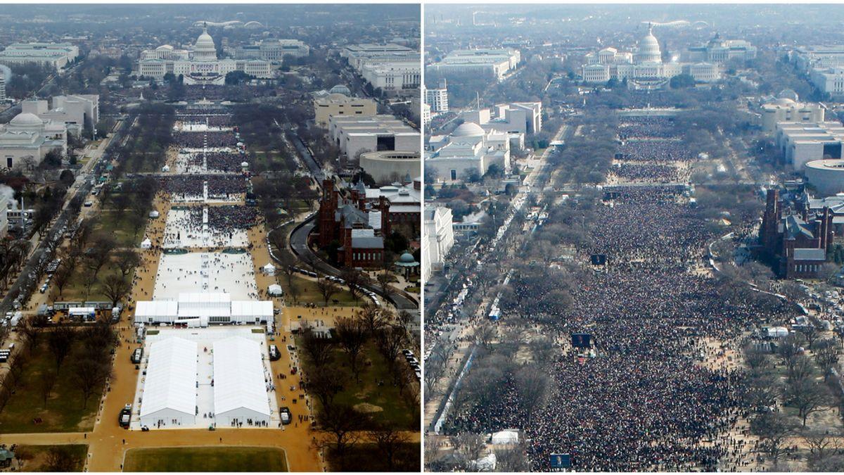 Obama supera a Trump en asistentes durante la investidura