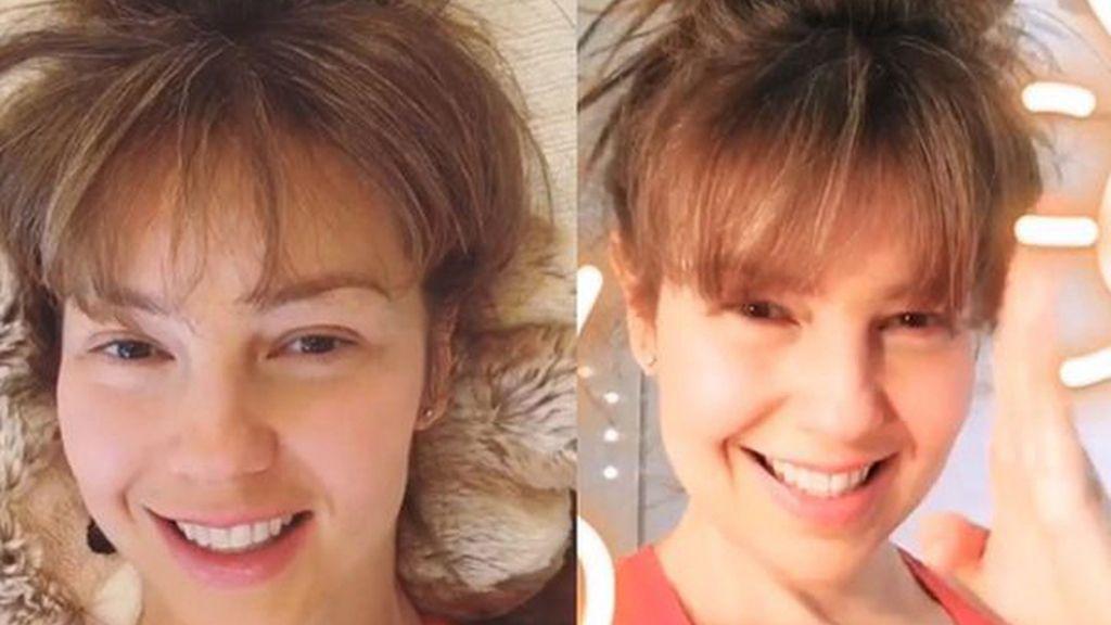 Thalia sin maquillar