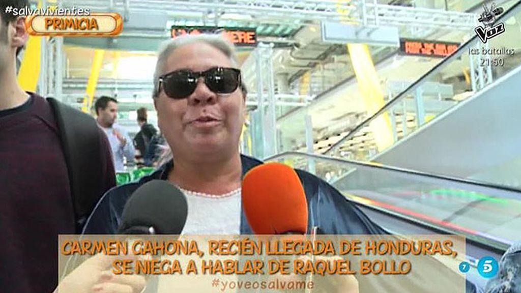 Carmen Gahona ya está en España