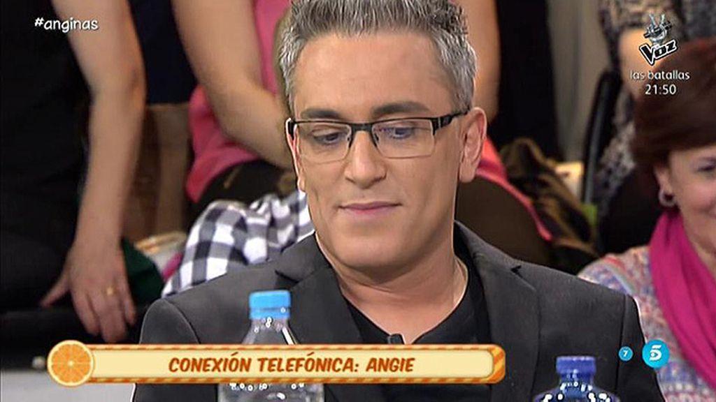 """Kiko Hernández, a Angie: """"En la vida me he besado con usted"""""""