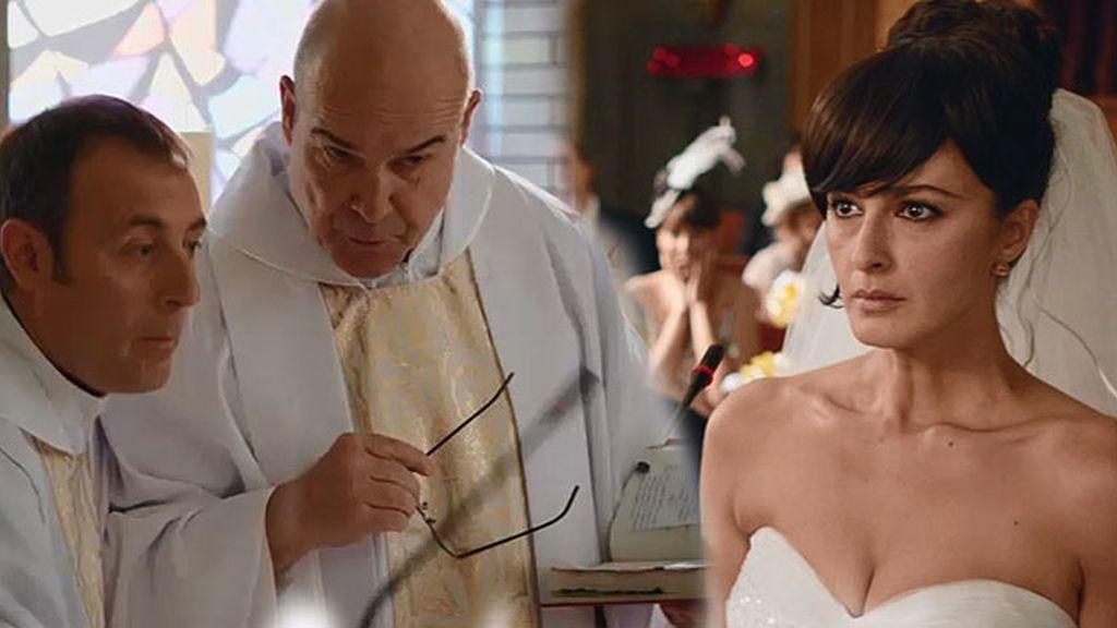 El padre Ángel (Paco) oficia su primera boda y la novia se fuga