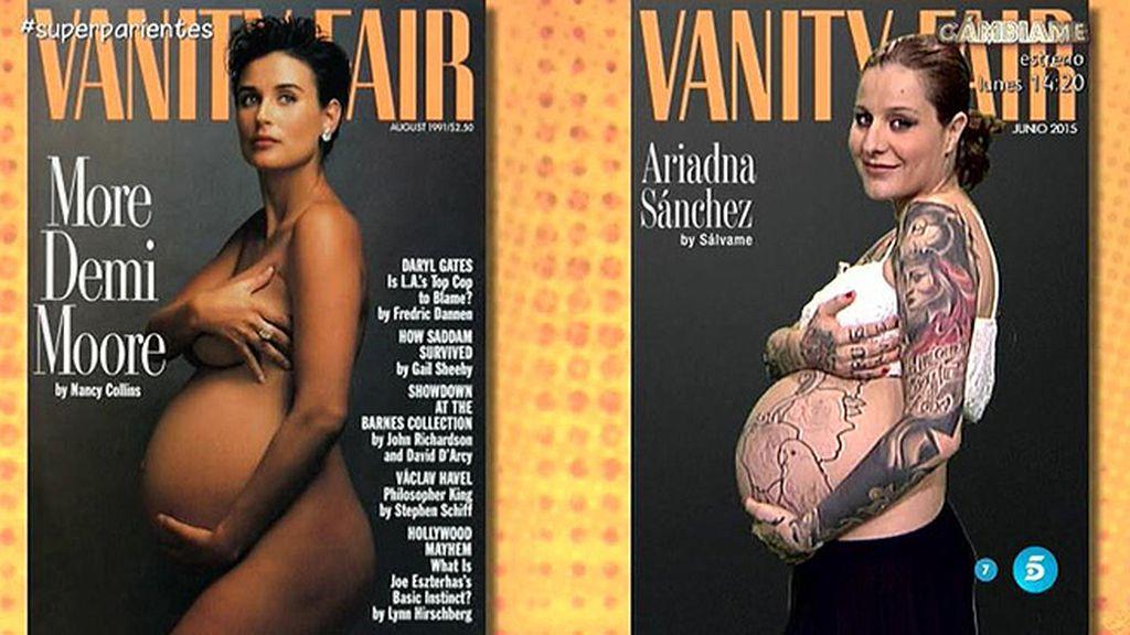 Ariadna emula la portada de Demi Moore