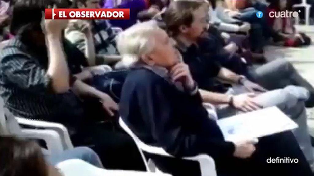 Las imágenes que demuestran la discrepacia de Iglesias en un mitin de Vargas
