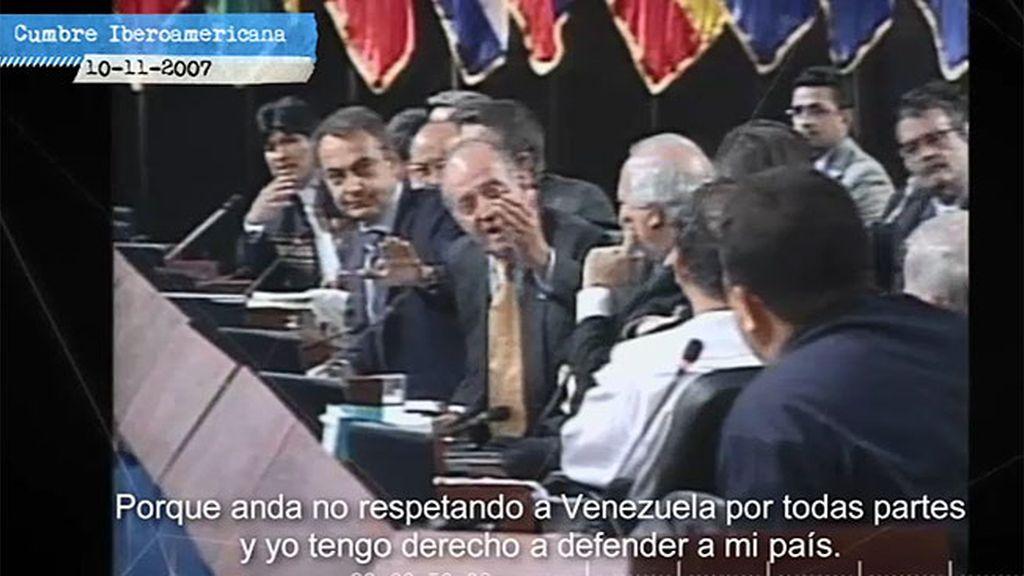 "Don Juan Carlos, a Chávez en la Cumbre Iberoamericana: ""¿Por qué no te callas?"""