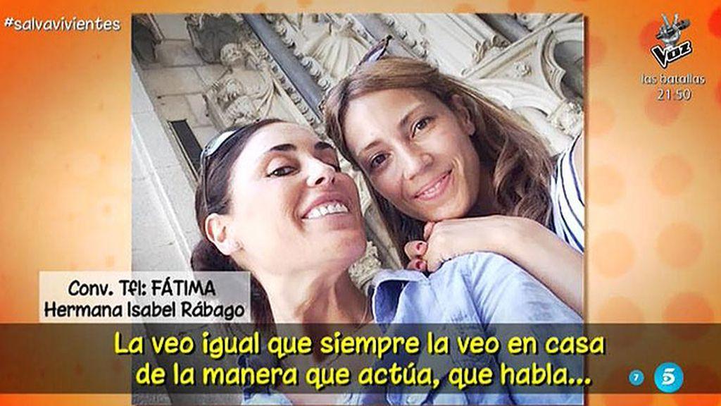 """Fátima, hermana de Isabel Rábago: """"Ella no se aprovecha de ser periodista"""""""