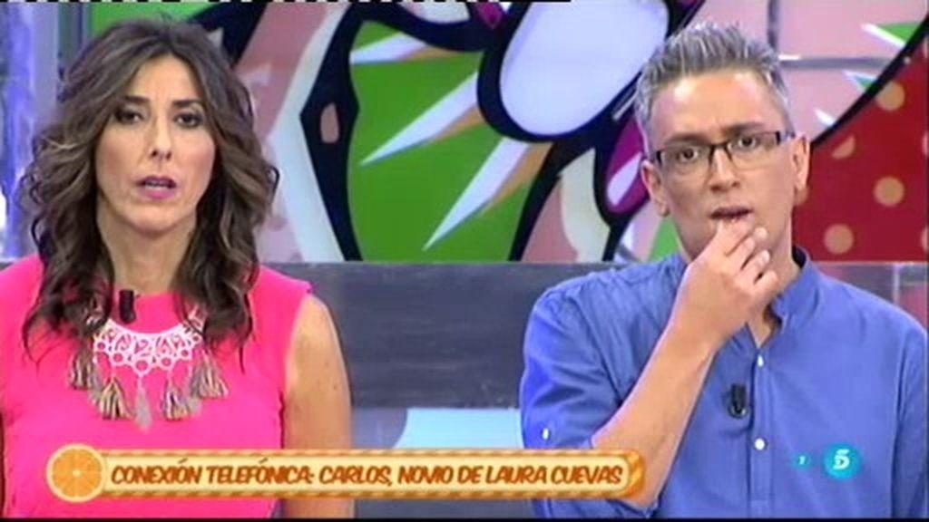 Carlos, novio de Laura Cuevas, destrozado tras enterarse que su novia fue detenida