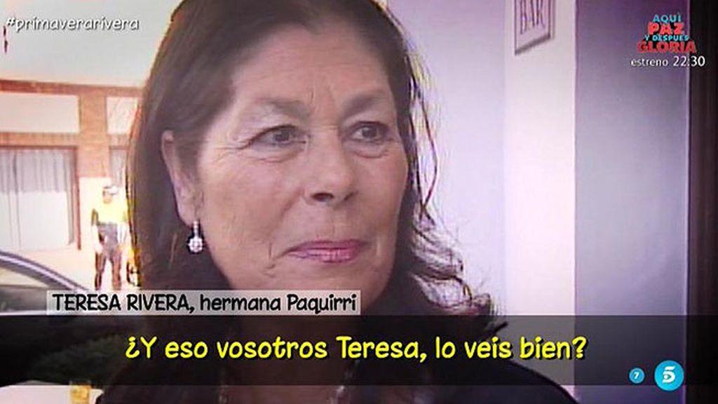 """Teresa Rivera: """"Me gustaría que los hermanos se entendiesen"""""""