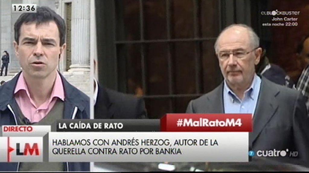 """Andrés Herzog: """"Vamos a volver a pedir prisión provisional para Rato"""""""