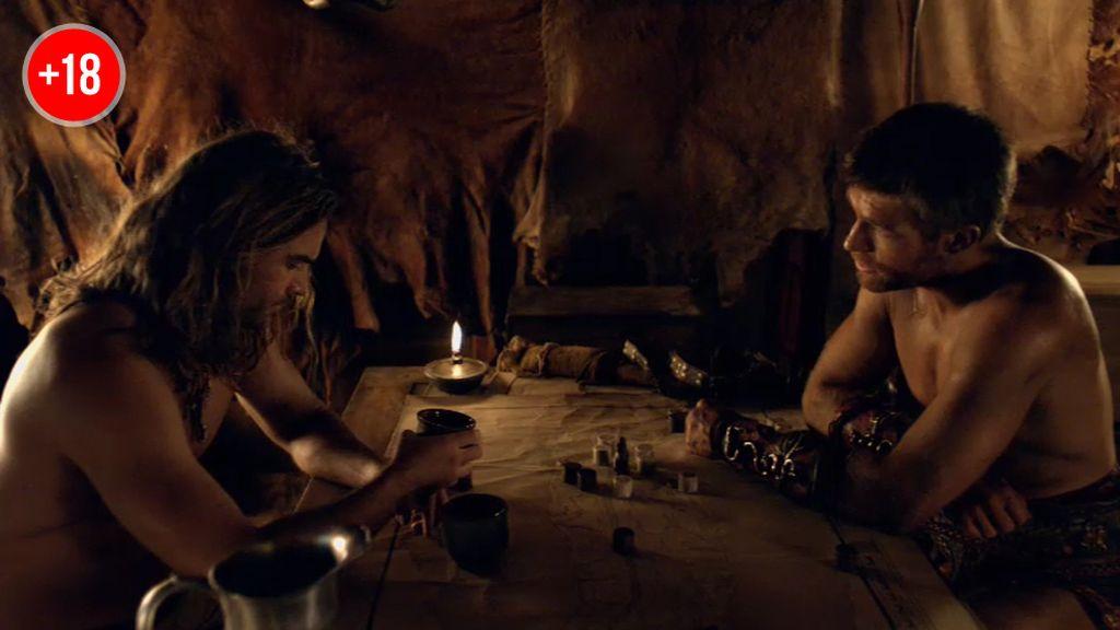 """Espartaco, a Gannicus: """"Lucharé hasta ver el día en que los romanos y su crueldad no sean más que un recuerdo"""""""