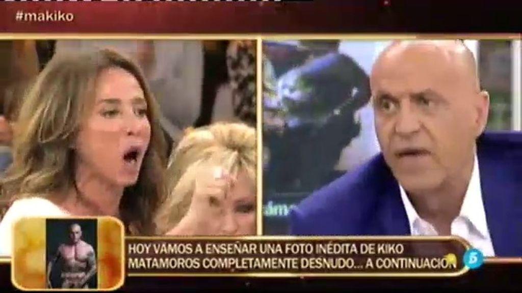 """María Patiño, a Kiko Matamoros: """"A tu mujer le hablas como te dé la gana, a mí no"""""""