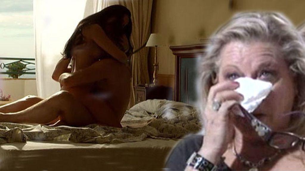 Mayte Zaldívar rompe a llorar al ver las escenas de sexo entre Muñoz y la Pantoja