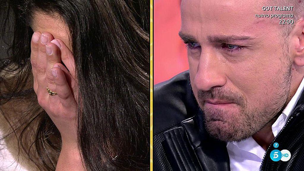 """Rafa Mora, entre lágrimas viendo a su chica: """"Me dan ganas de abrazarla"""""""