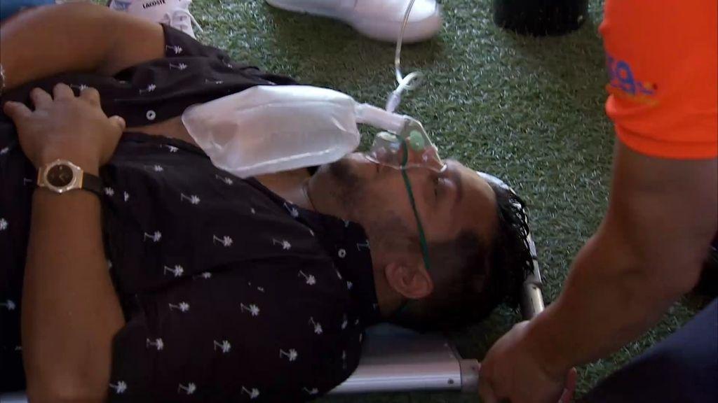 Mariano pierde el conocimiento inflando globos y Joaquín se lleva un susto de muerte