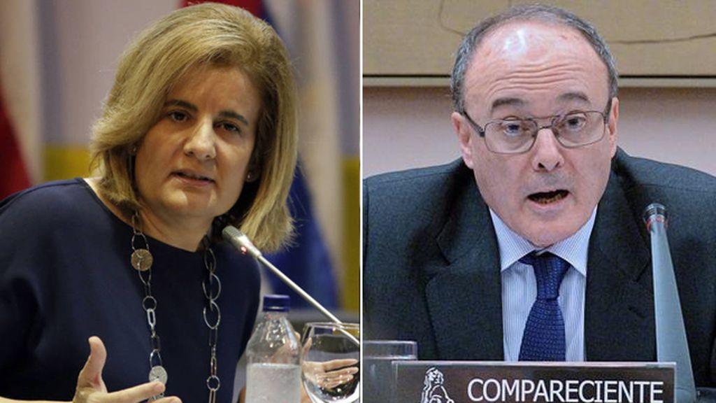 Fátima Báñez y Luis María Linde