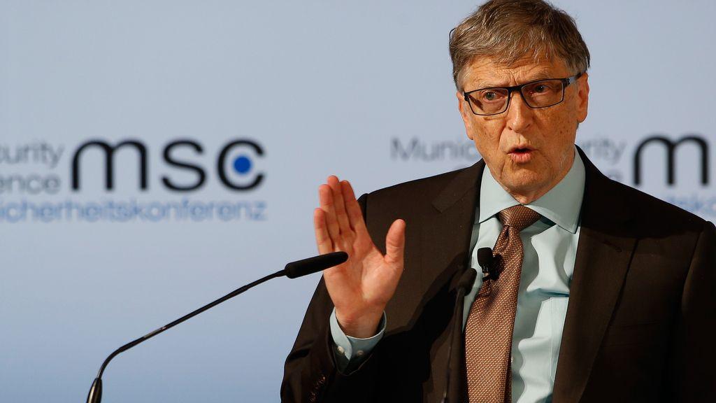 Bill Gates en una conferencia de Seguridad en Múnich