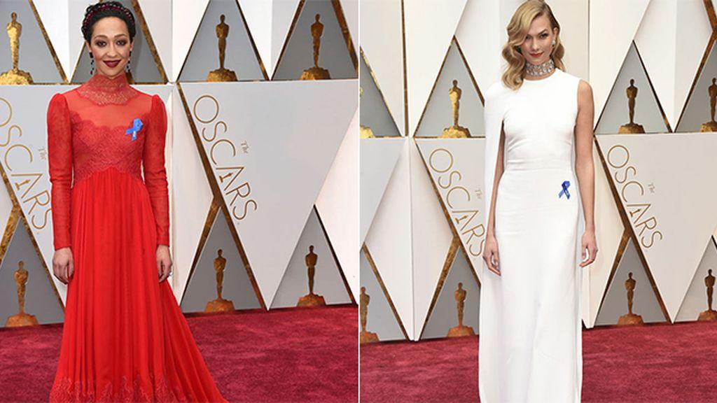 ¿Qué significa el lazo azul que lucen algunas estrellas en los Óscar 2017?