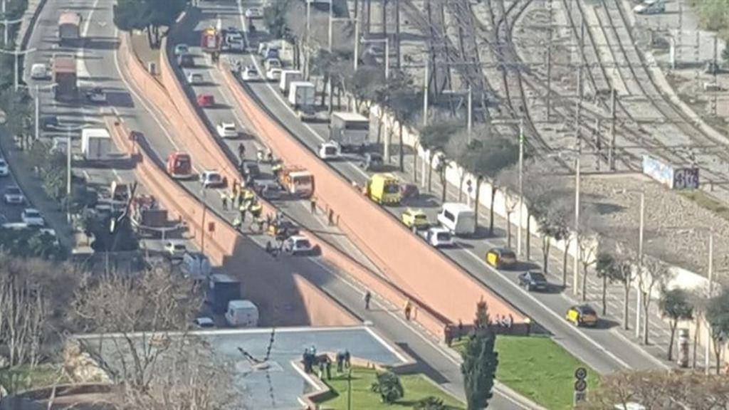Un detenido por robar un camión de butano y circular en contra dirección por la ronda de Barcelona