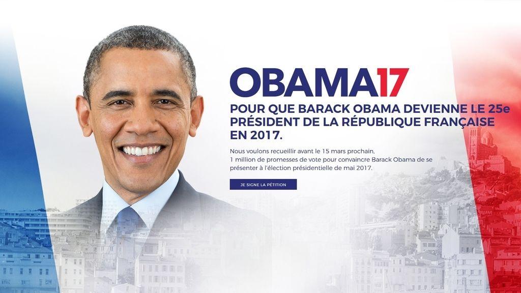 ¿Será Barack Obama candidato para la Presidencia de Francia?