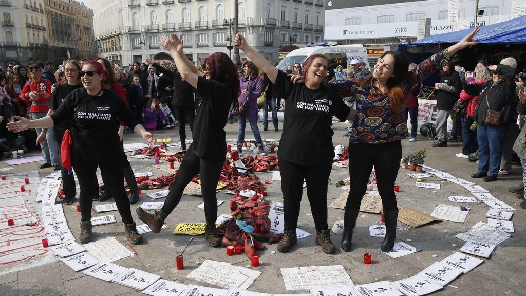 Concentración en apoyo violencia