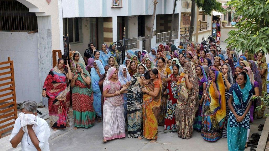 Una imagen de archivo de un funeral en la India