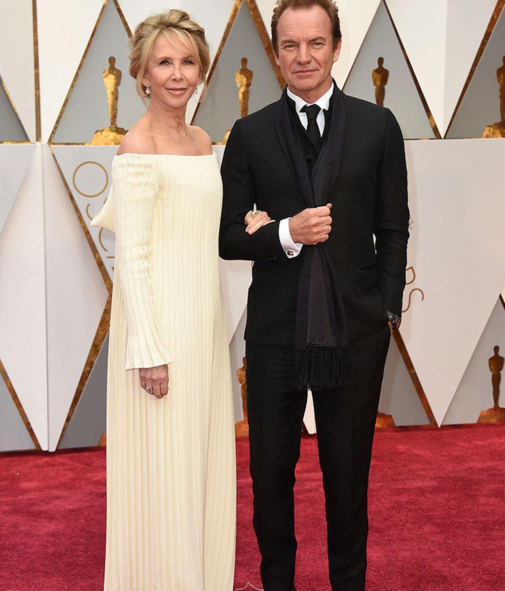 Sting y Trudie Styler en la alfombra roja