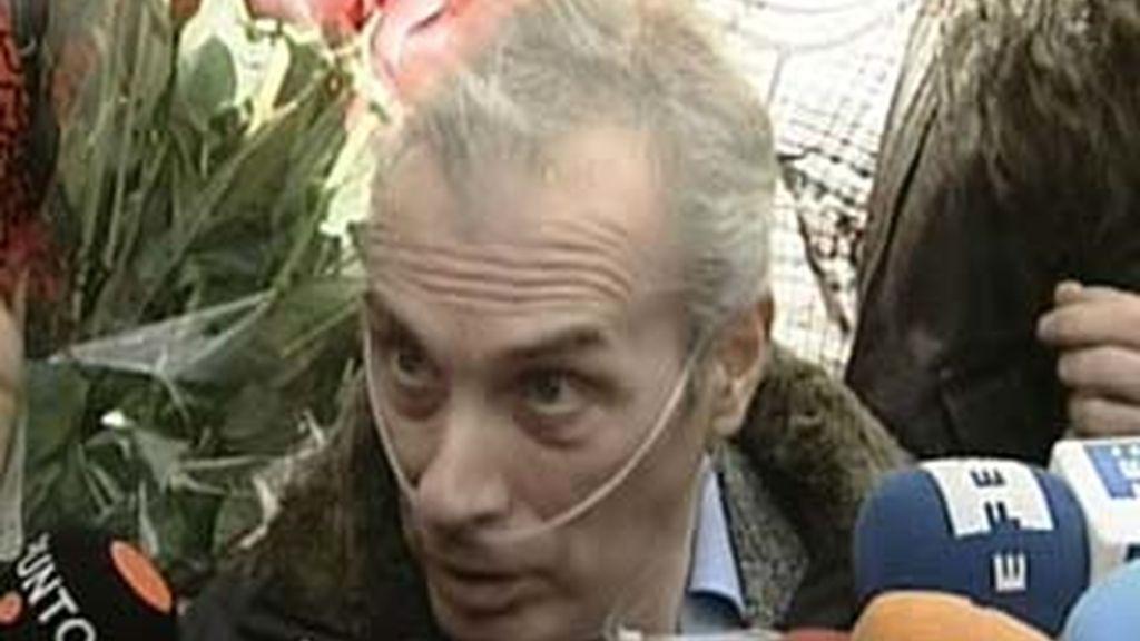 Jesús Neira, tras salir del hospital, en rehabilitación. Vídeo: Informativos Telecinco