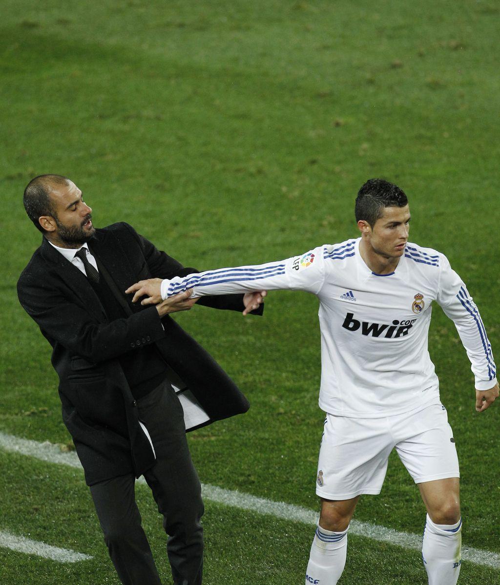 en la Liga 2010 Guardiola discute con Cristiano Ronaldo