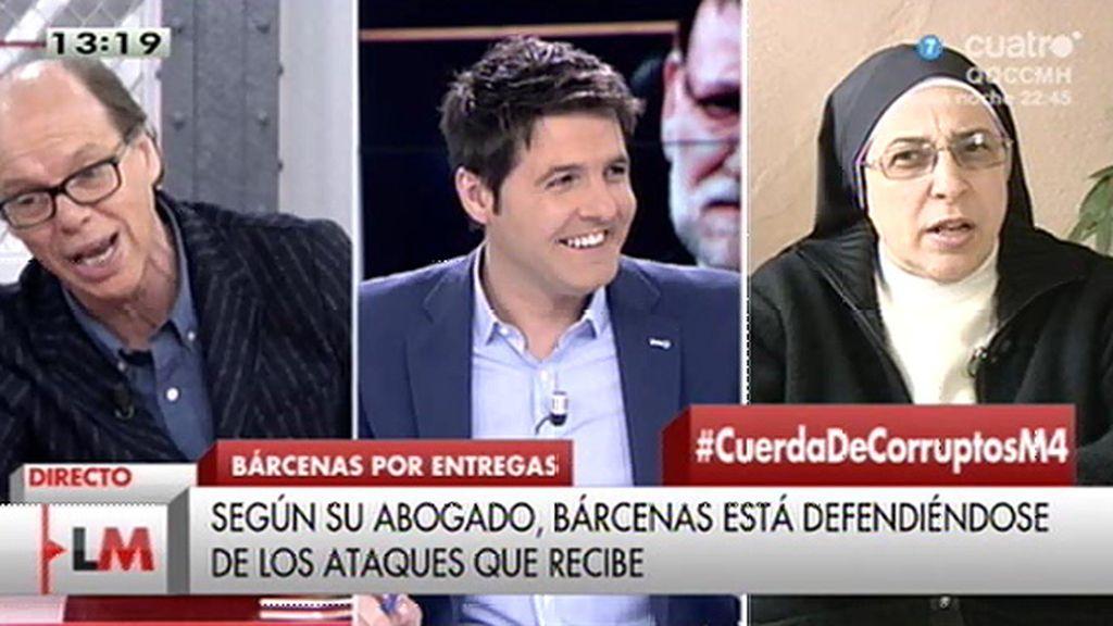 """González, a Sor Lucía: """"No sé si usa el hábito como anteojeras para solo ver la corrupción que afecta al PP"""""""