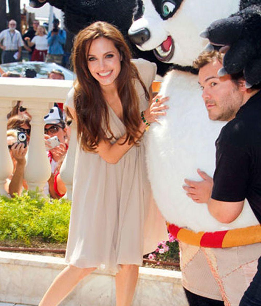 Angelina Jolie y Jack Black en el estreno de 'Kung Fu Panda 2' en Cannes