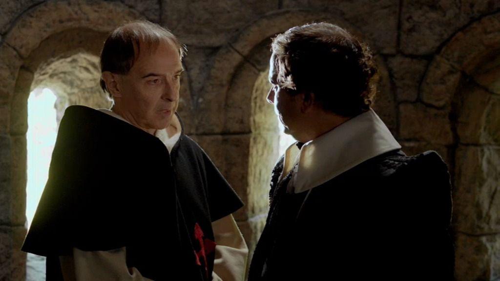 Bocanegra informa a Luis de Álquezar del plan secreto de boda real