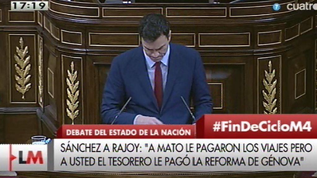 """Sánchez, a Rajoy: """"Lecciones de usted ninguna porque soy un político limpio"""""""
