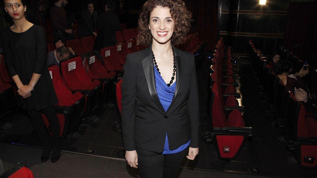 La actriz Ruth Gabriel a su llegada al cine Capitol