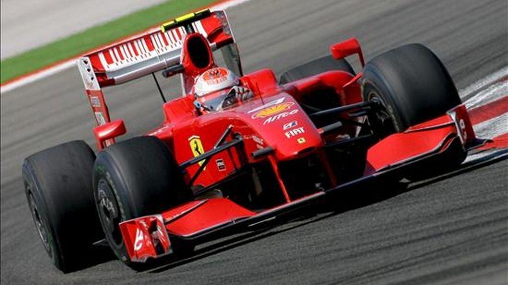 El piloto finlandés de Fórmula Uno Kimi Raikkonen, de la escudería Ferrari. EFE/Archivo