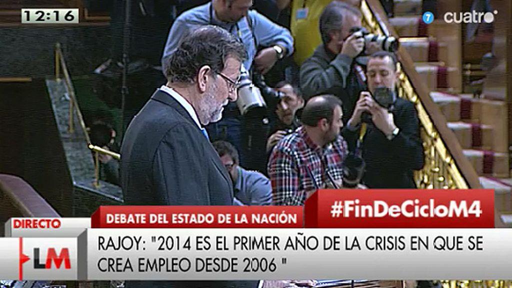 """Rajoy: """"La economía creará entre 2014 y 2015 en torno a un millón de empleos netos"""""""