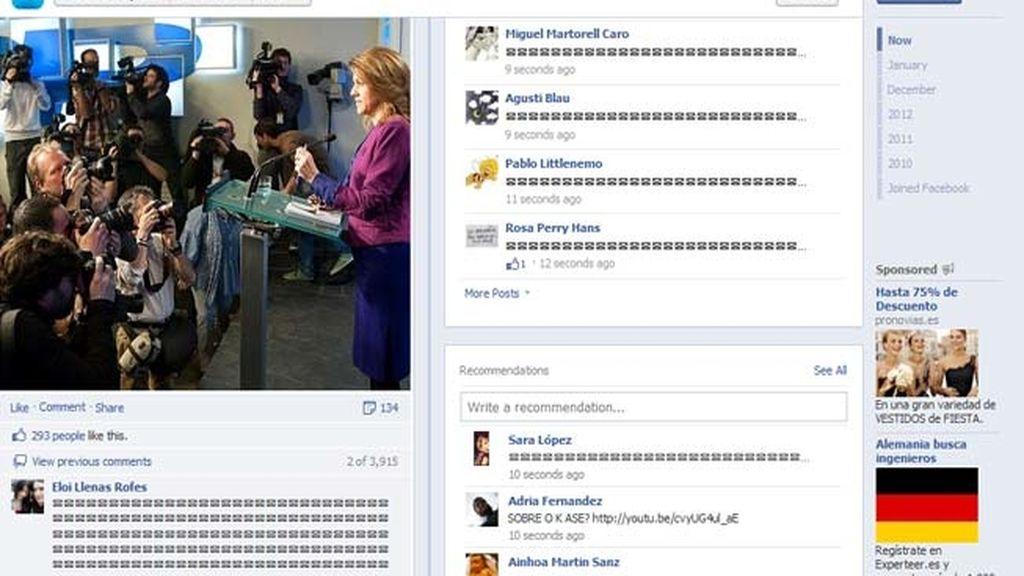 La página del PP en Facebook se llena de 'sobres' para mostrar la indignación ciudadana