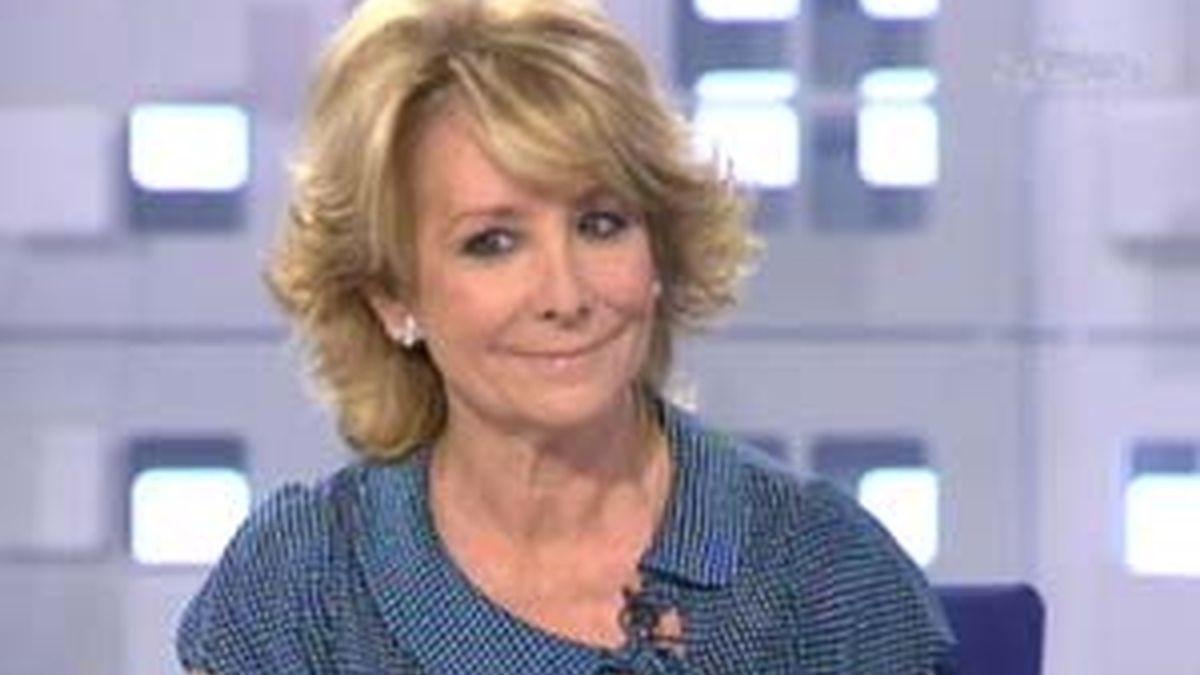 Esperanza Aguirre, presidenta de la Comunidad de Madrid, en La Mirada Crítica