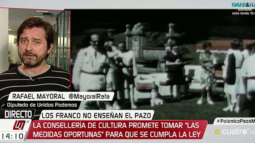 """Rafael Mayoral: """"Parece que los Franco están defendiendo el botín que obtuvieron en la dictadura"""""""
