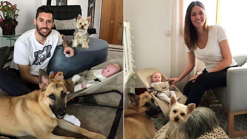 Sus primeras imágenes de la familia al completo, Bella y Denver incluidos